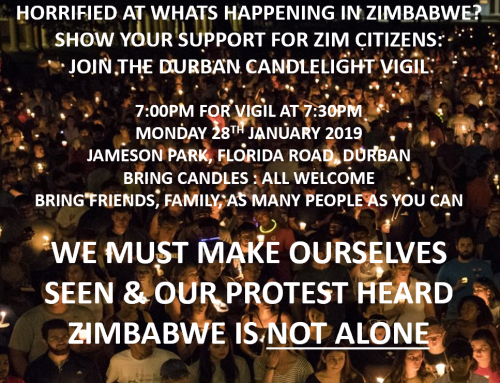 Candlelight Vigil For Zimbabwe