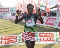 Helalia Johannes wins the Spar Woman's 10km Challenge in Durban, 23 June 2019. Photo: Rogan Ward